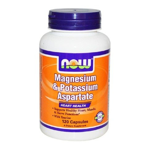 Now Magnesium & Potassium Aspartate,  Unflavoured  120 capsules