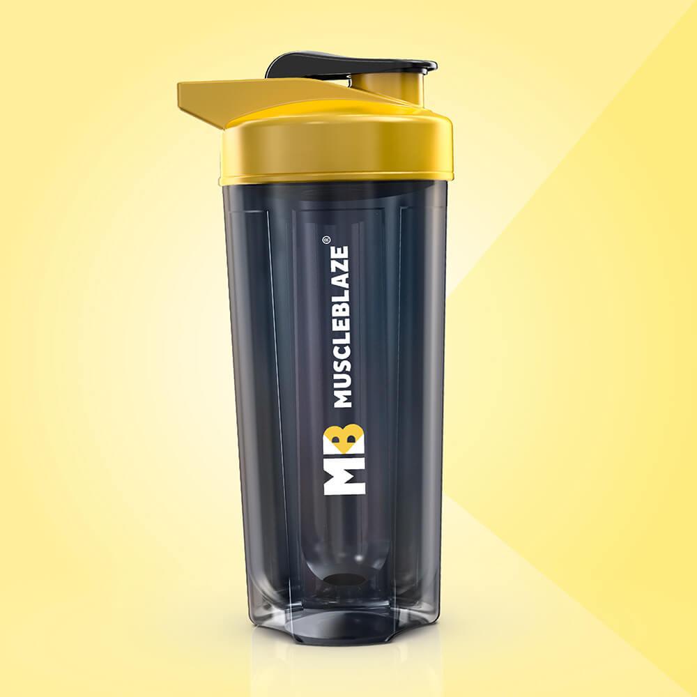 7 - MuscleBlaze ZIDD Pro 1.0 Shaker,  Yellow & Black  750 ml