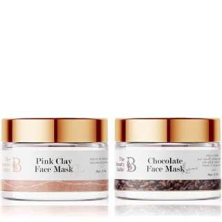 The Beauty Sailor Pink Clay Face Mask 100 g & Chocolate Face Mask Combo,  100 g  Anti Ageing