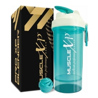 1 - MuscleXP PRO XP Gym Shaker,  Sea Green (Blender) with Compartment  650 ml