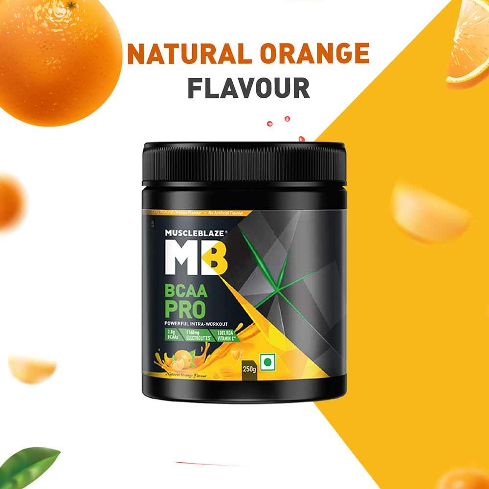 7 - MuscleBlaze BCAA Pro,  0.55 lb  16 Servings  Natural Orange