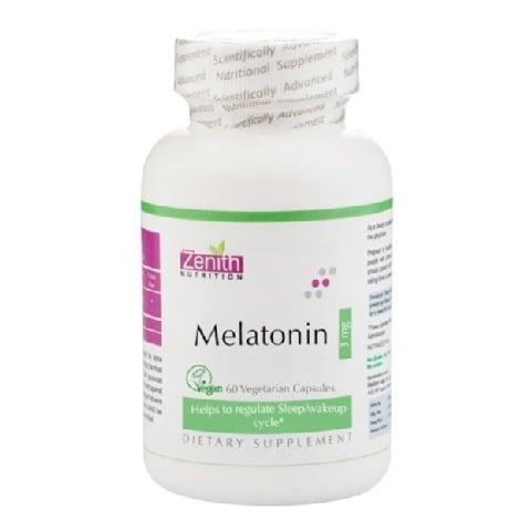 Zenith Nutrition Melatonin (3 mg),  60 capsules