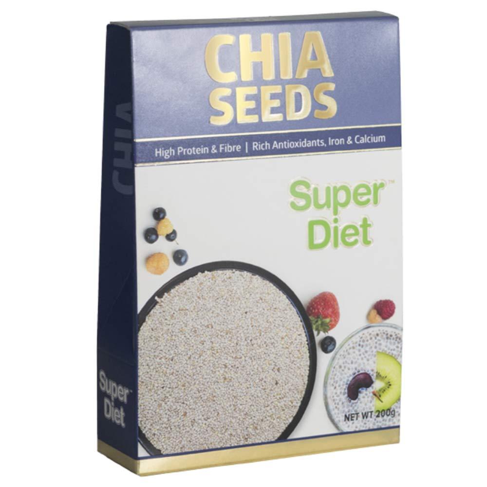 1 - Super Diet Chia Seeds,  200 g  Unflavoured
