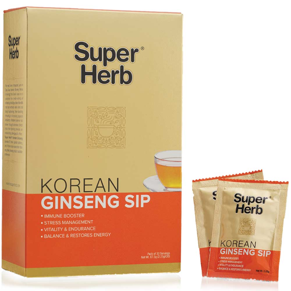 1 - Super Herb Korean Ginseng Sip,  30 sachets/pack