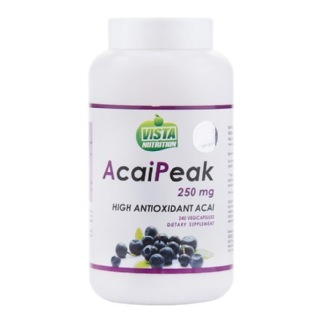 Vista Nutrition Acai Peak (250 mg),  240 capsules  Unflavoured