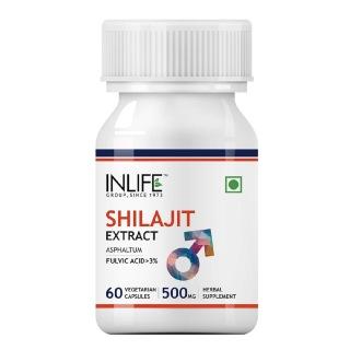 INLIFE Shilajit Extract 500 mg,  60 veggie capsule(s)