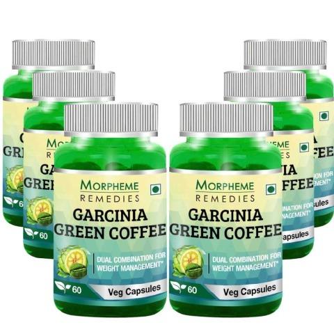 Morpheme Remedies Garcinia Green Coffee (500mg) Buy 3 Get 3 Free,  60 veggie capsule(s)  Unflavoured