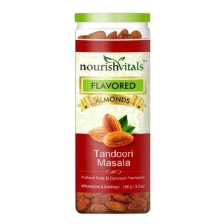 NourishVitals Roasted Almonds,  Tandoori Masala  0.150 kg