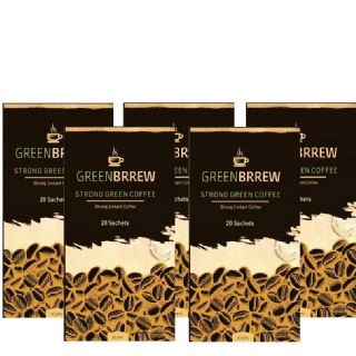 GreenBrrew Strong Green Coffee (Pack of 5),  20 sachets/pack