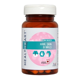 HealthKart Hair, Skin & Nails,  Unflavoured  90 capsules