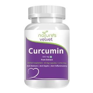 Natures Velvet Curcumin Haldi Pure Extract (500 mg),  60 capsules
