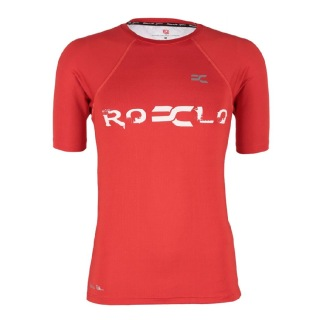 Rocclo T Shirt-5062,  Blood Red  Medium