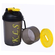 GHC 2-Compartment Shaker Bottle, Yellow 600 ml