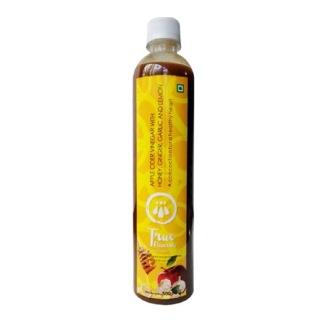 True Elements Apple Cider Vinegar,  0.5 L  Lemon, Ginger, Honey & Garlic