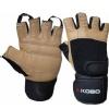 KOBO Gym Gloves (WTG-02),  Brown & Black  Large