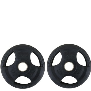 KOBO Premium Quality Rubber Coated Olympic Plate 51mm,  Black  5 kg