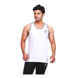 Omtex Ghost Stringer for Men,  White  Small