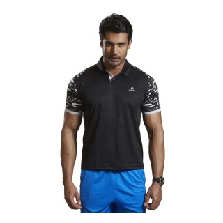 Omtex Active Wear T-Shirts - 1603,  Black  Large