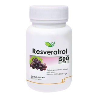 Biotrex Resveratrol (500 mg),  60 capsules