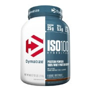 Dymatize Iso-100 Protein,  3 lb  Fudge Brownie