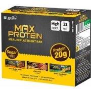 RiteBite Max Protein Meal Replacement Bar,  6 Piece(s)/Pack  Assorted