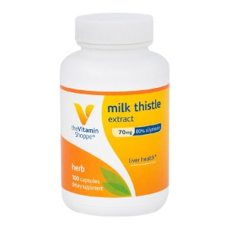 The Vitamin Shoppe Milk Thistle Extract (70 mg),  100 capsules