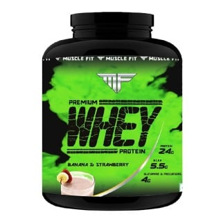 Muscle Fit Premium Whey Protein,  4.4 lb  Banana & Strawberry