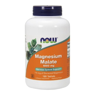 Now Magnesium Malate (1000mg),  Unflavoured  180 tablet(s)