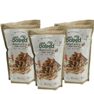 Get Baked Crunch Rocks (Pack of 3),  Chocolate  0.1 kg