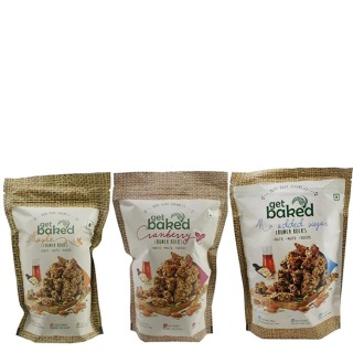 Get Baked Crunch Rocks Combo of 3,  Maple Cranberry & No Added Sugar  0.150 kg