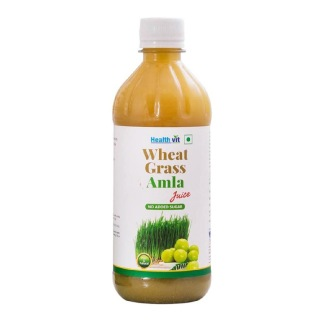 Healthvit Wheat Grass Amla Juice,  Natural  0.5 L