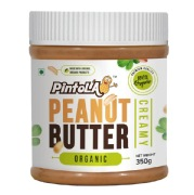 Pintola Organic Peanut Butter,  0.350 kg  Creamy