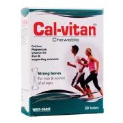 West Coast Cal-Vitan Chewable,  30 tablet(s)  Unflavoured