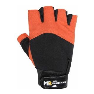 MuscleBlaze Gloves Lycra,  Orange Black  Free Size