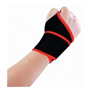 B Fit USA Wrist Support (327),  Black  Free Size