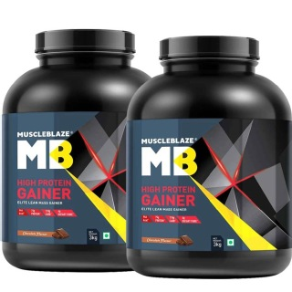 MuscleBlaze High Protein Lean Mass Gainer 6.6 lb Chocolate - Pack of 2