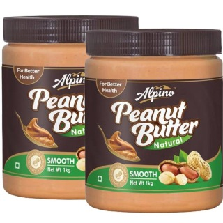 Alpino Peanut Butter Natural (Pack of 2),  Smooth  1 kg