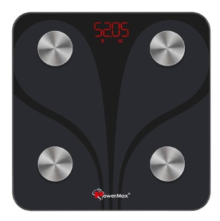 Power Max Smart Device BCA 130 Bluetooth Smart Scale,  Black