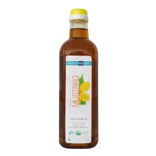 HealthKart Cold Pressed Organic Mustard Oil,  1 L