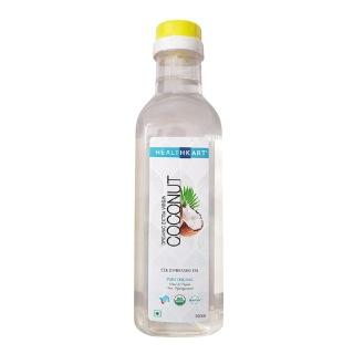 HealthKart Cold Pressed Organic Extra Virgin Coconut Oil,  0.5 L