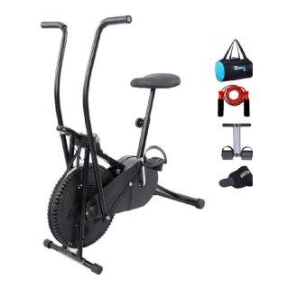 Lifeline Exercise Air Bike, Tummy Trimmer, Gym Bag, Sweat Belt and Skipping Rope
