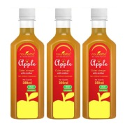 Neuherbs Apple Cider Vinegar with Mother Unfiltered,  0.350 L  Unflavoured - Pack of 3