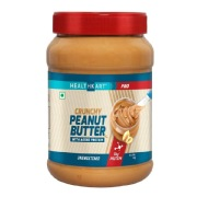 2 - HealthKart Peanut Butter Protein Fortified Unsweetened,  Crunchy  1 kg