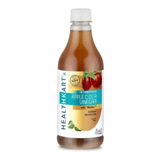 HealthKart Apple Cider Vinegar with Mother, 0.5 L Unflavoured New