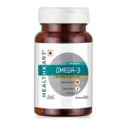 1 - HealthKart Omega 3 1000mg with 180mg EPA and 120mg DHA,  60 softgels
