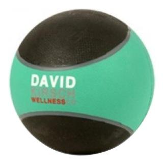 David Krisch Wellness Medicine Ball,  Black & Green  4 lb
