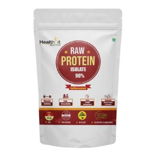 Healthfit Raw Whey Protein Isolate 90%,  1 lb  Unflavoured