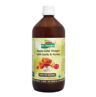 Dr. Patkar's Apple Cider Vinegar,  0.5 L  Garlic & Honey