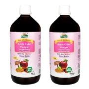 Dr. Patkar's Apple Cider Vinegar (Pack of 2),  1 L  Cinnamon & Fenugreek