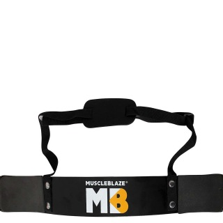 MuscleBlaze Gym Arm Blaster,  Regular  Black